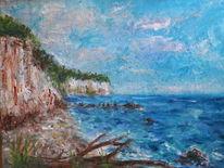 Ostsee, Strand, Fluss, Malerei