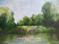 Park, Ufer, Malerei
