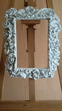 Rahmen, Rose, Abstrakt, Wasserlilien