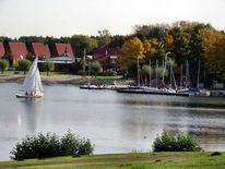 Boot, Ufer, See, Segel