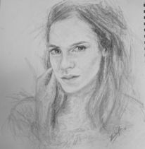 Portrait, Kopf, Zeichnung, Skizze