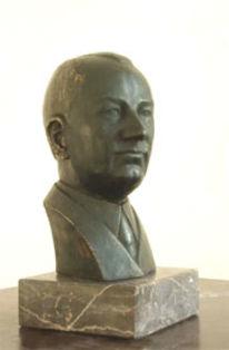 Ettore bugatti, Skulptur, Bronze, Portrait