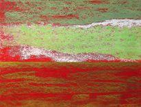 Weiß, Horizont, Pastellmalerei, Grün