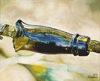 Glas, Stillleben, Ölmalerei, Grün
