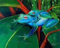 Amphibien, Wasser, Tiere, Frosch