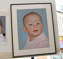 Pastellkreide portrait, Baby portrait, Pastellmalerei, Malerei
