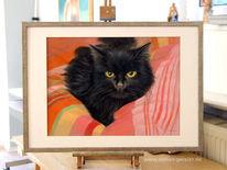 Katzenportrait, Zeichnungen, Katze