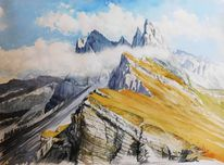 Dolomiten, Berge, Alpen, Gebirgsmalerei