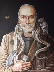 Prekariat, Odenwald, Ratte, Ölmalerei