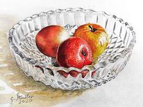 Obst, Herbstteller, Apfel, Erntezeit