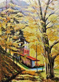 Jahreszeiten, Ölmalerei, Ernsttal, Herbst
