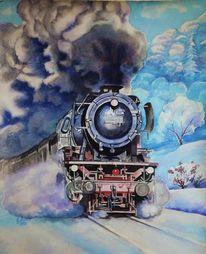 Mudau, Eisenbahnromantik, Kraft, Aquarellwelt