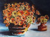 Leichtigkeit, Odenwald, Blumen, Aquarellmalerei
