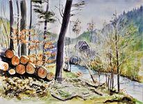 Jahreszeiten, Ohrenbach, Modern, Odenwald