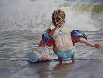 Gefahr, Aquarellmalerei, Ozean, Insektizid