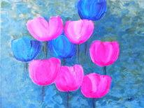 Tulpen, Tulipan, Blumen, Popart