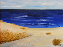 Ostsee, Himmel, Strandhafer, Gras