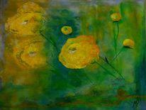 Blumen, Pflanzen, Gelb, Abstrakt