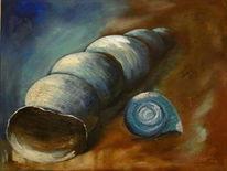 Gemälde, Silber, Gold, Sand