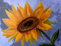 Sommer, Korbblütler, Sonnenblumen, Blumen