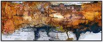 Marmormehl, Ohne titel, Sumpfkalk, Aquarellmalerei