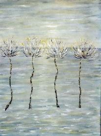 Blumen, Meer, Landschaft, Malerei