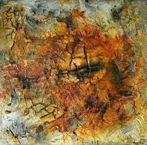 Abstrakt, Ohne titel, Beize, Öl pigmente