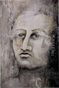 Menschen, Acrylmalerei, Gedicht, Modern art