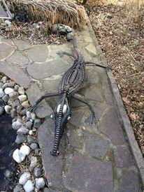 Sontheim stubental, Gavialis ignorieren, Kunst aus schrott, Krokodil