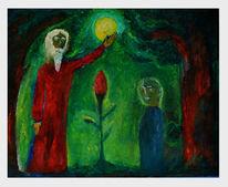 Mond, Menschen, Zwerg, Baum