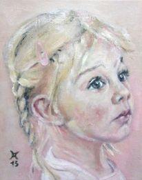 Kinderportrait, Malerei, 2013,
