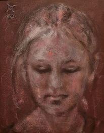 Rosa, Augenschein, Blick, Malerei