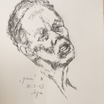 Schmerz, Frau, Holzkohle, Zeichnungen