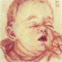 Schlaf, Ocker, Baby, Malerei
