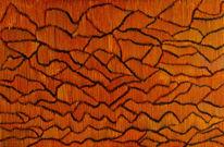 Traumpfade, Australien, Temperamalerei, Dünen