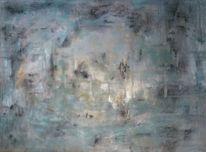 Lichtblicke, Temperamalerei, Ausblick, Pigmente