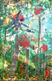Abstrakt, Grün, Palmen, Marokko