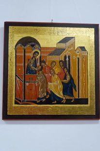 Gold, Poliment vergoldung, Apostel, Fenster