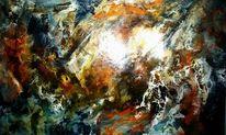 Sonne, Pigmente, Tiefe, Abstrakt