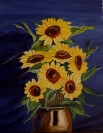Sonnenblumen, Blumem, Malerei