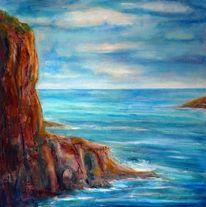 Wasser, Blau, Meer, Felsen