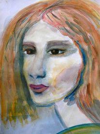Jung, Mädchen, Portrait, Gesicht