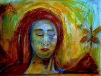 Ausdruck, Portrait, Metamorphose, Malerei