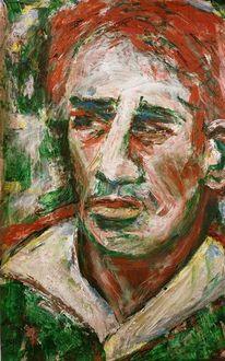 Portrait, Kopf, Charakterkopf, Grün