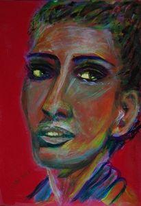 Portrait, Farben, Frau, Fantasie