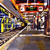 U bahn, Malerei, Bahn, Rathaus