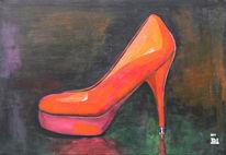 Acrylmalerei, Malerei, Schuhe