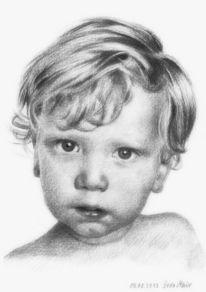 Portraitzeichnung, Kohlezeichnung, Zeichnungen