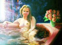 Badewanne, Sonne, Frau, Morgen