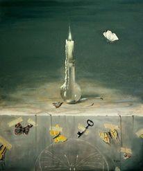 Realismus, Kerzen, Stein, Schlüssel